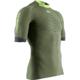 X-Bionic The Trick G2 Run Shirt SS Men olive green/phyton yellow